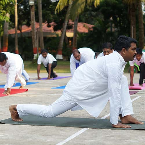 Yoga facilities at Toshali Sands